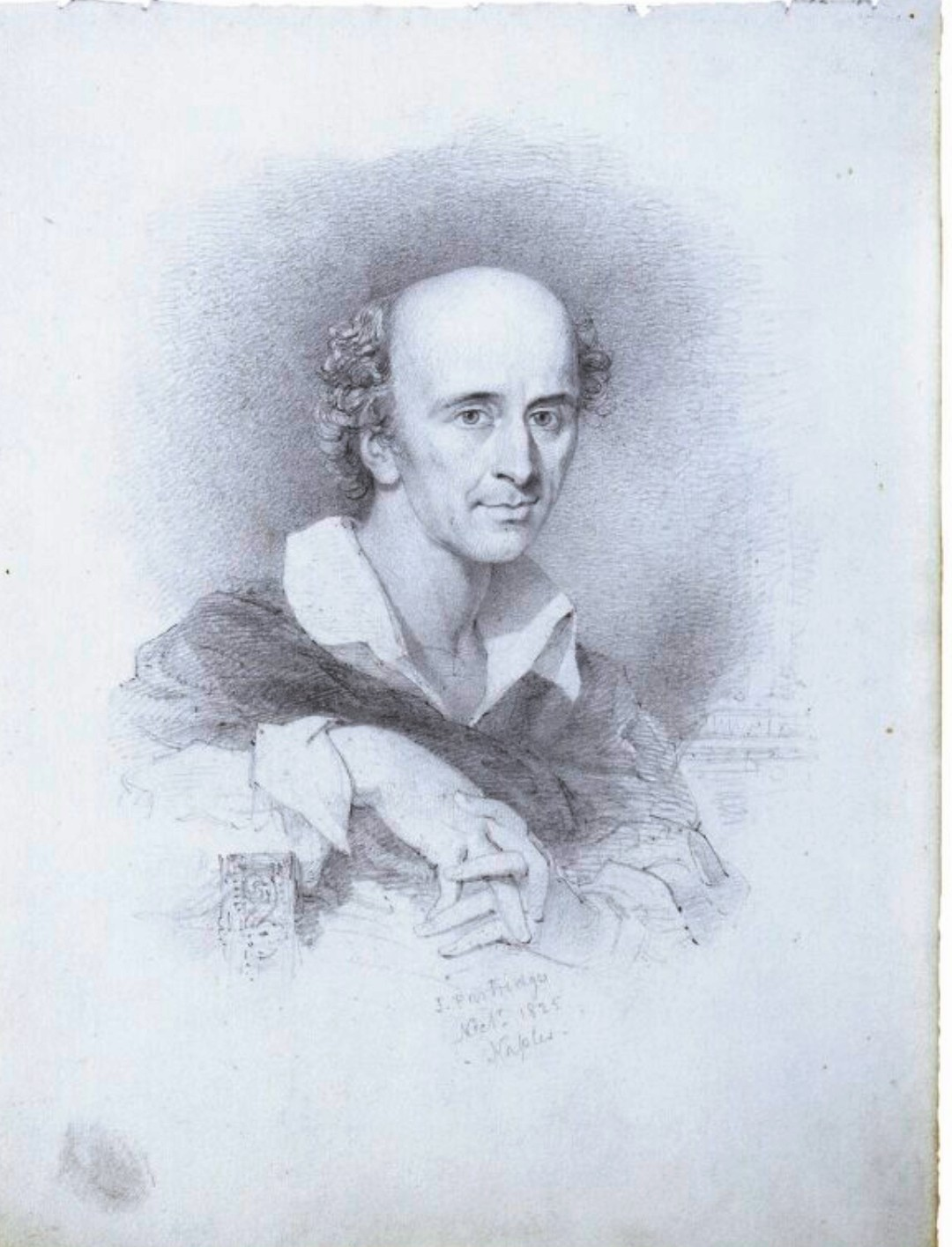 Thomas Uwins, disegno a matita di John Partridge, Napoli 1825, 238mm x 184mm, National Portrait Gallery, London
