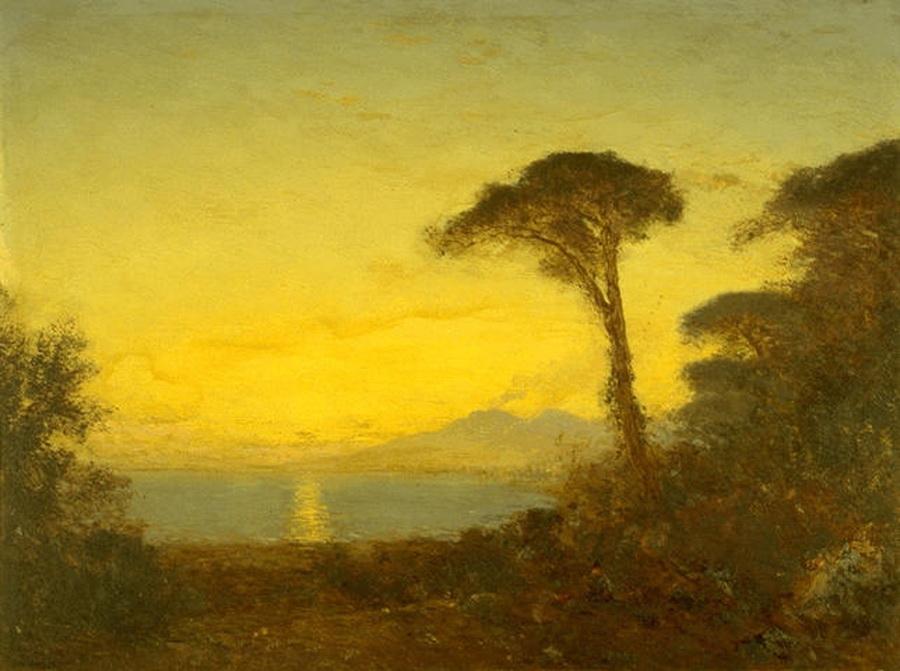 Effet de soleil couchant a la Castelmare, Félix Ziem