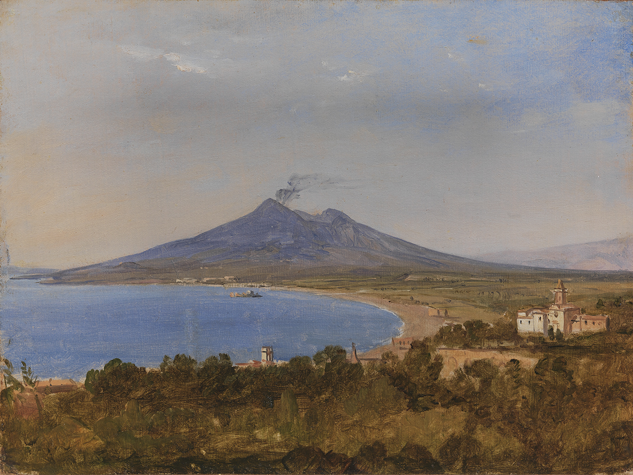 Franz Ludwig Catel, The Gulf of Naples with Vesuvius