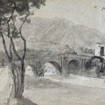 Bro over Sarno ved Castellammare,19-10-1820, 313 x 554 mm