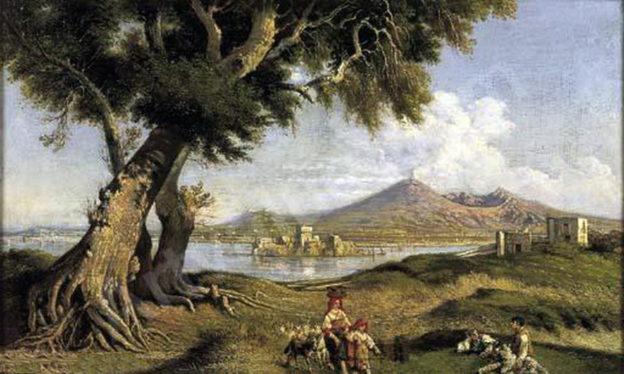 Carelli Consalvo, Castellamare, olio su tela,1818-1900