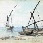 Felukker, Castellammare, 26-09-1820, 211 x 277 mm