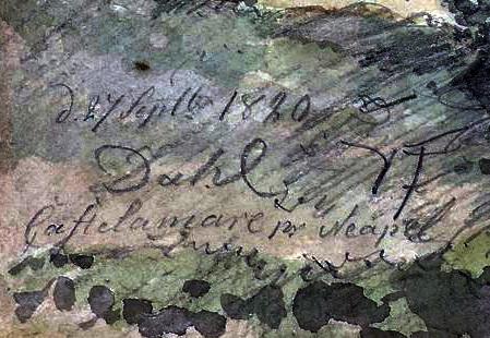 Dahl, firma con scritta Castellammare