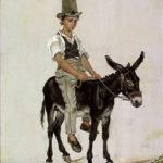 Gutt på esel, 1820, 40,5 x 33,5 cm