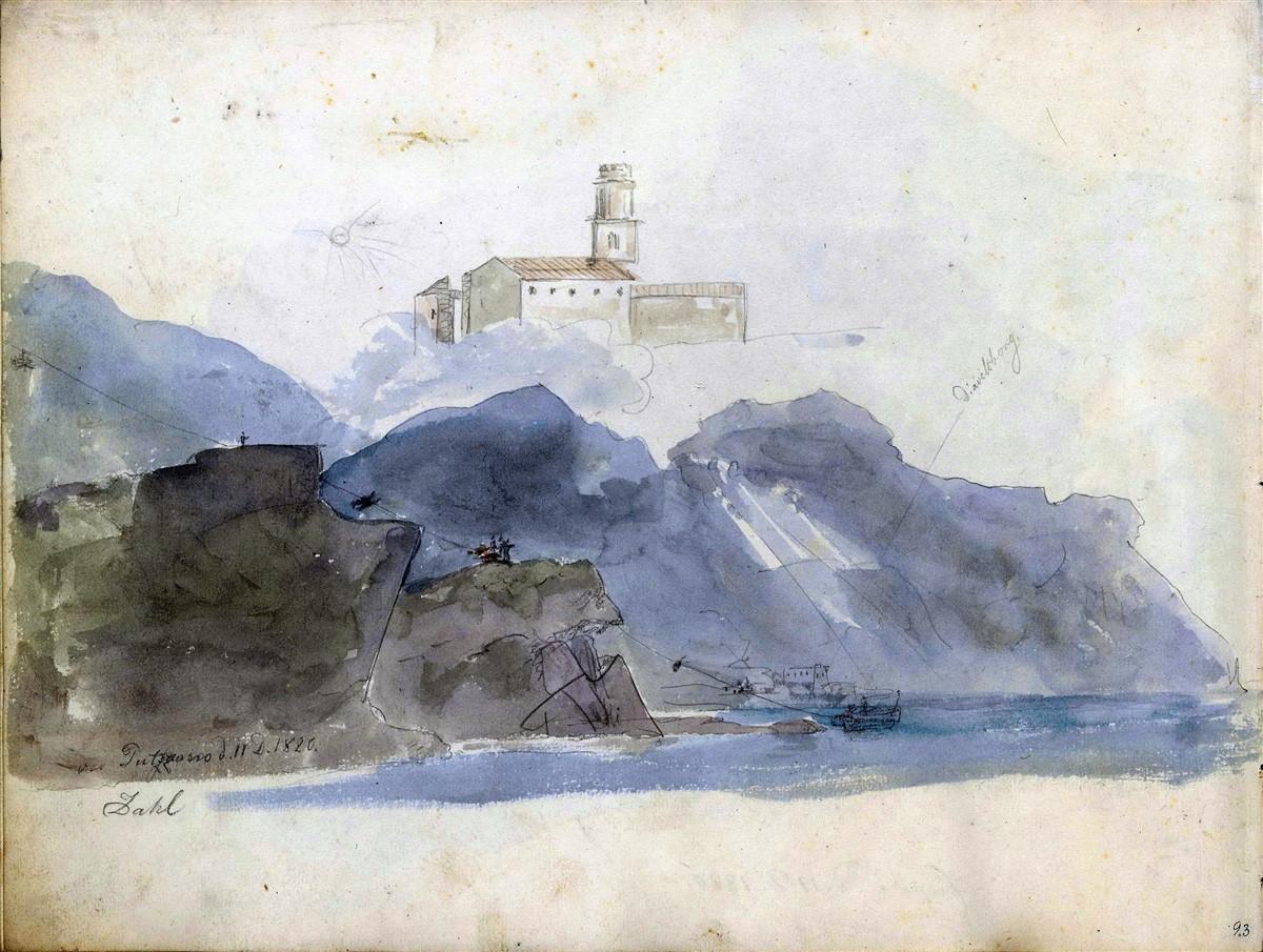 Kirken i Pozzano, 11-12-1820, 210 x 277 mm