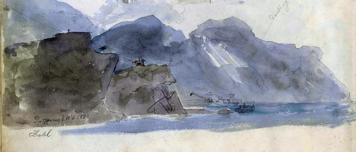 Particolare, Kirken i Pozzano, 11-12-1820, 210 x 277 mm