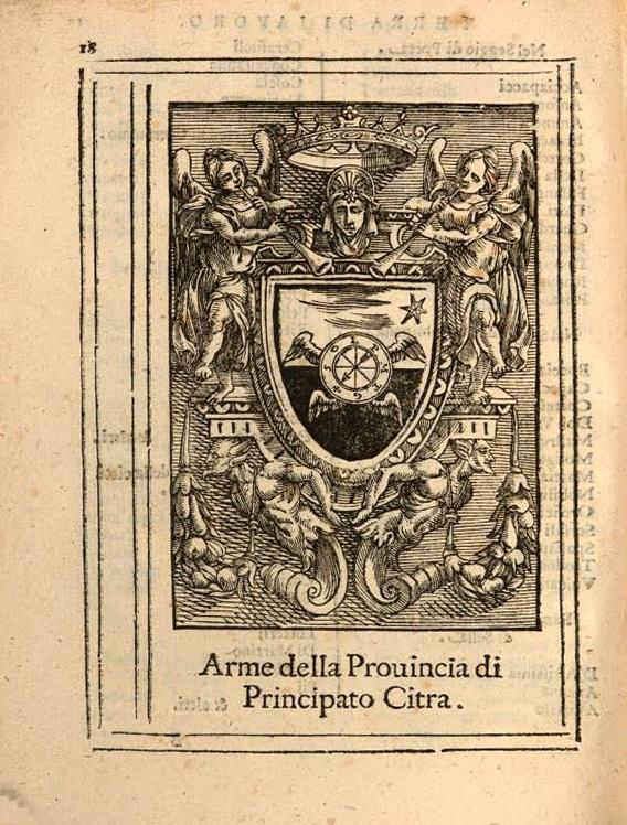 Stemma Principato di Citra tratto da Enrico Bacco