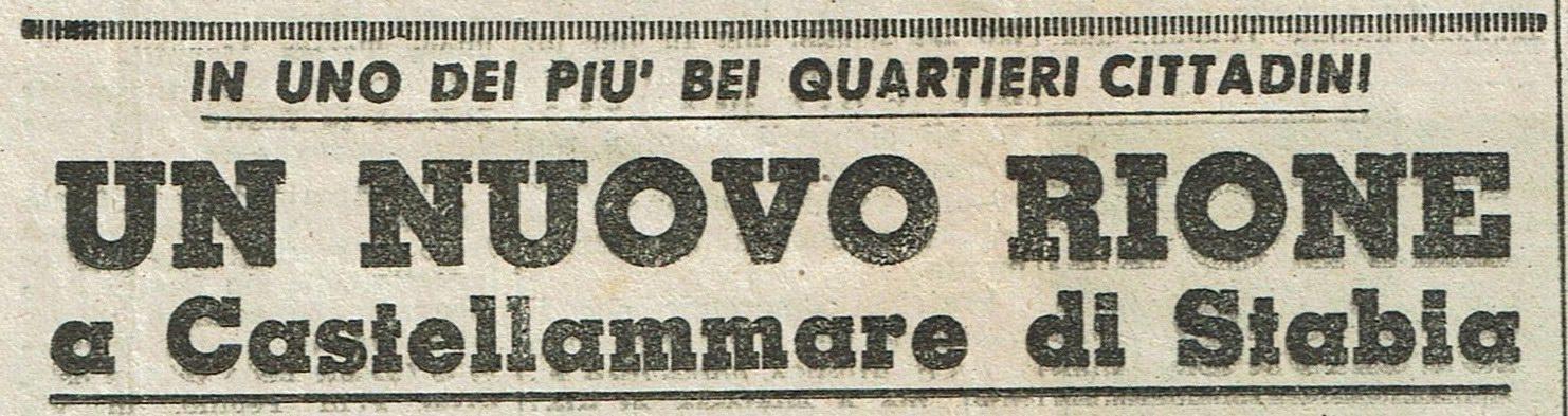 Rione San Marco (la nascita) - stralcio di articolo (coll. Carlo Felice Vingiani)