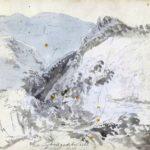 Ved foten av Monte Sant'Angelo, 09-10-1820, 210 x 278 mm