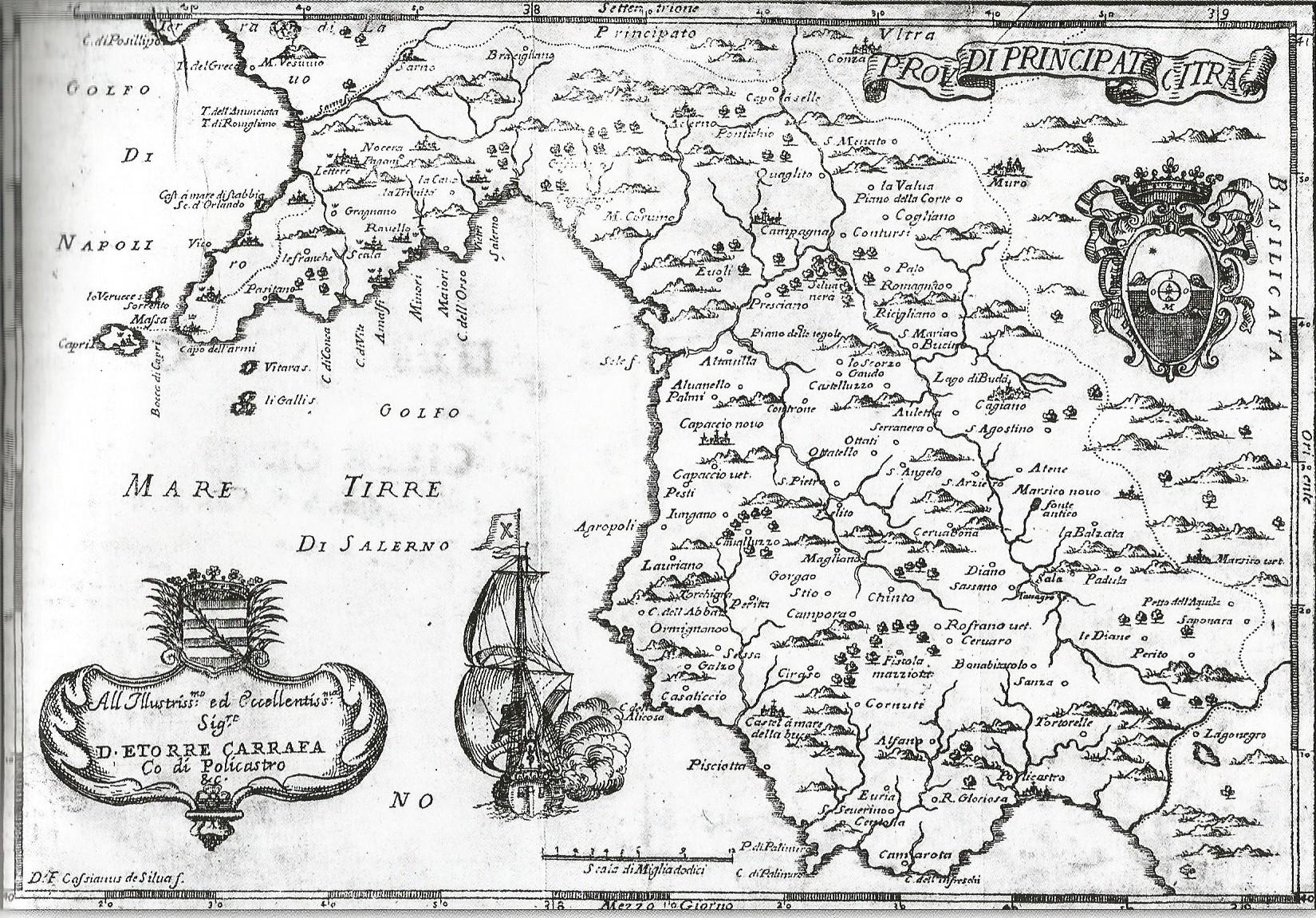 Principato di Citra, Giovanni Battista Pacichelli, Il Regno di Napoli in prospettiva, stampata nel 1703