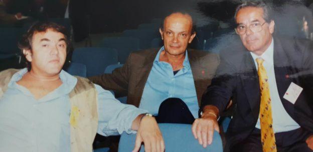 Da sinistra verso destra, Antonio Aprea, Giovanni Zeno e Antonio De Falco, in una foto del 1996 scattata al Congresso nazionale della Cgil a Rimini