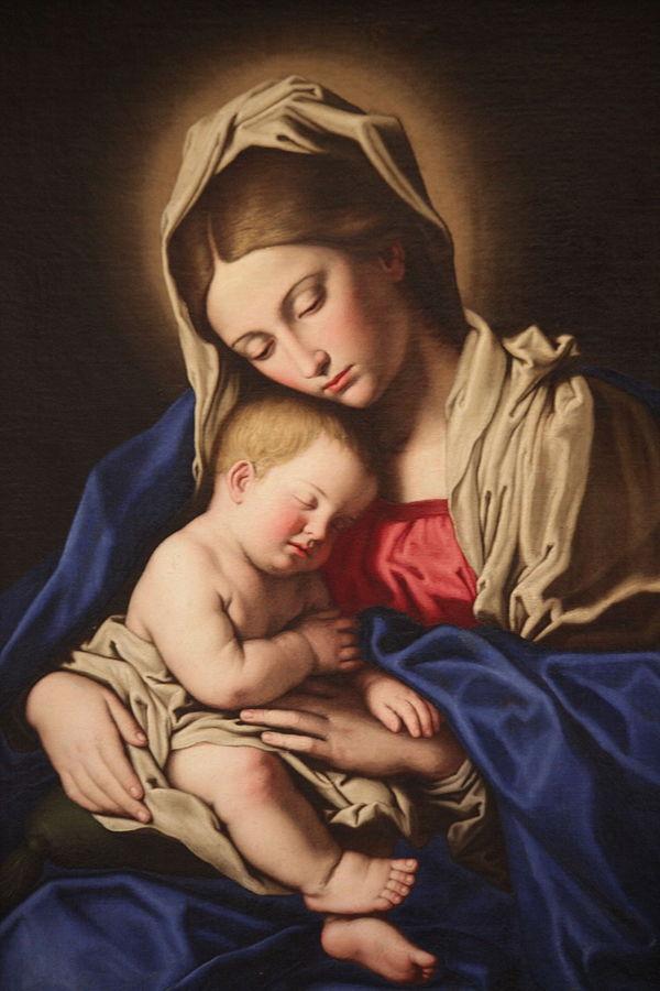 Madonna col Bambino dormiente di Giovan Battista Salvi detto il Sassoferrato