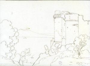 Giacinto Gigante, Veduta del castello di Castellammare, 26 giugno 1823