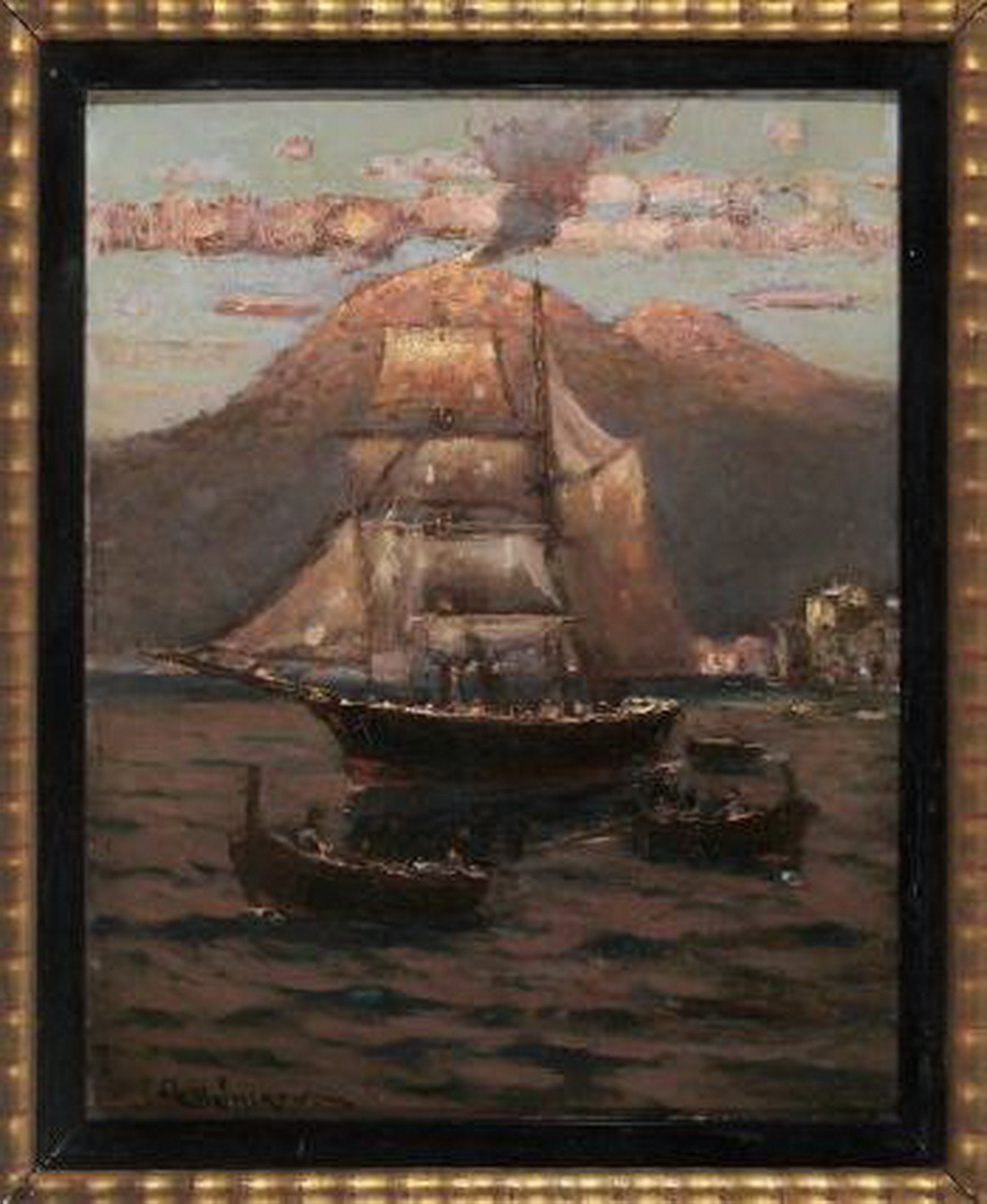 Alexander Von Suckow, Abend bei Castellammare