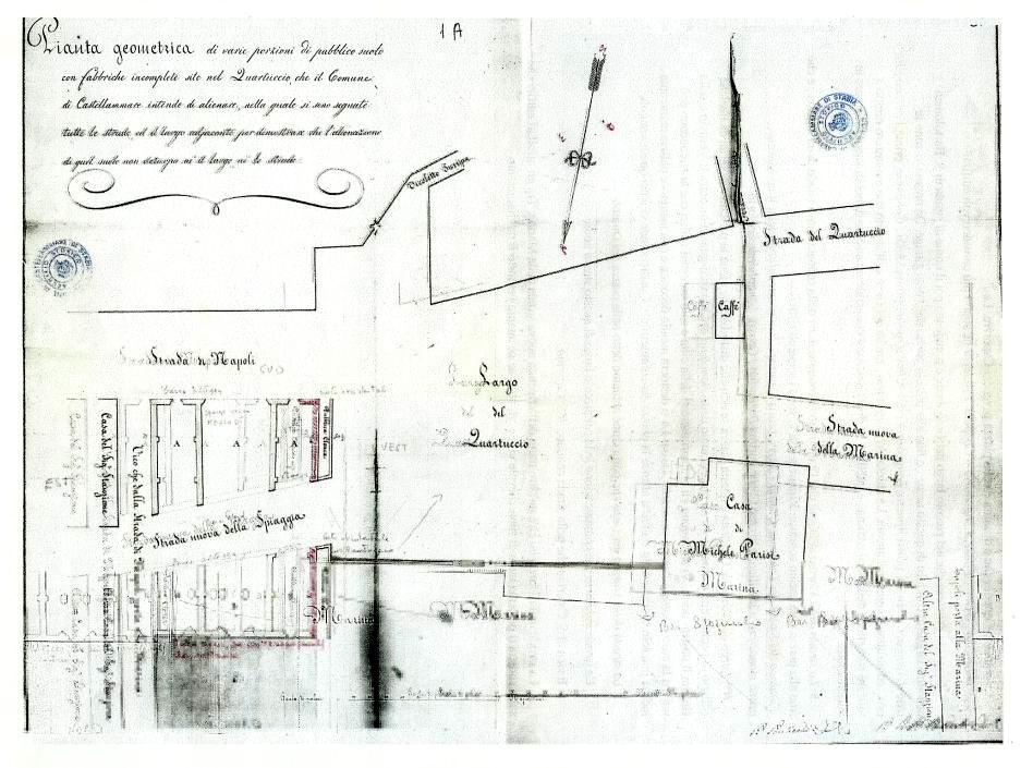 Fig. 1 Pianta elaborata dell'ing. Policarpo Ponticelli