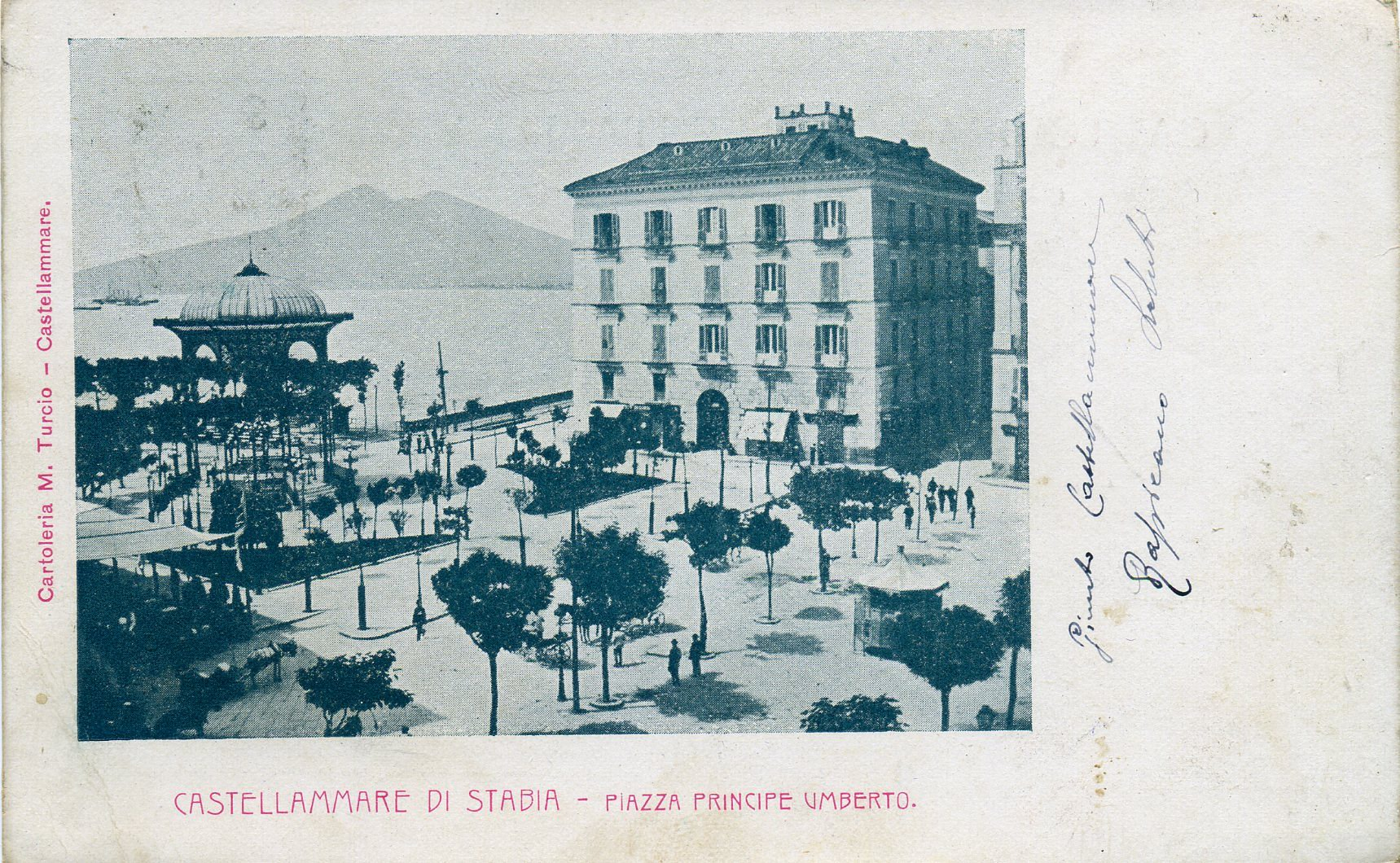 Fig. 5. Il palazzo Spagnuolo in una cartolina d'epoca di inizio '900 (coll. priv.)