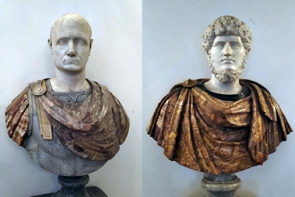 Con o senza, due busti del Museo di Capodimonte