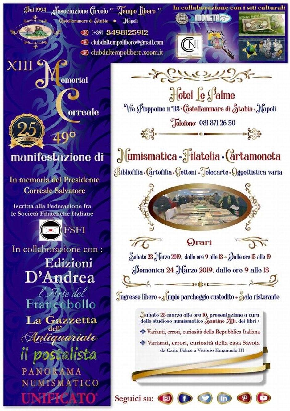 Locandina XIII Memorial Correale