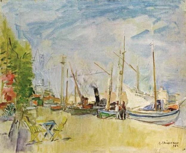 Alberto Chiancone, Castellammare 1954, olio su tela, cm 40x50, Napoli, collezione Ammendola