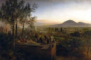 Oswald Achenbach, Il Vesuvio dintorni di Napoli