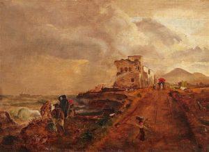 Oswald Achenbach,Paesaggio a sud di Napoli