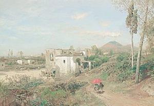 Oswald Achenbach, Vista sul Vesuvio
