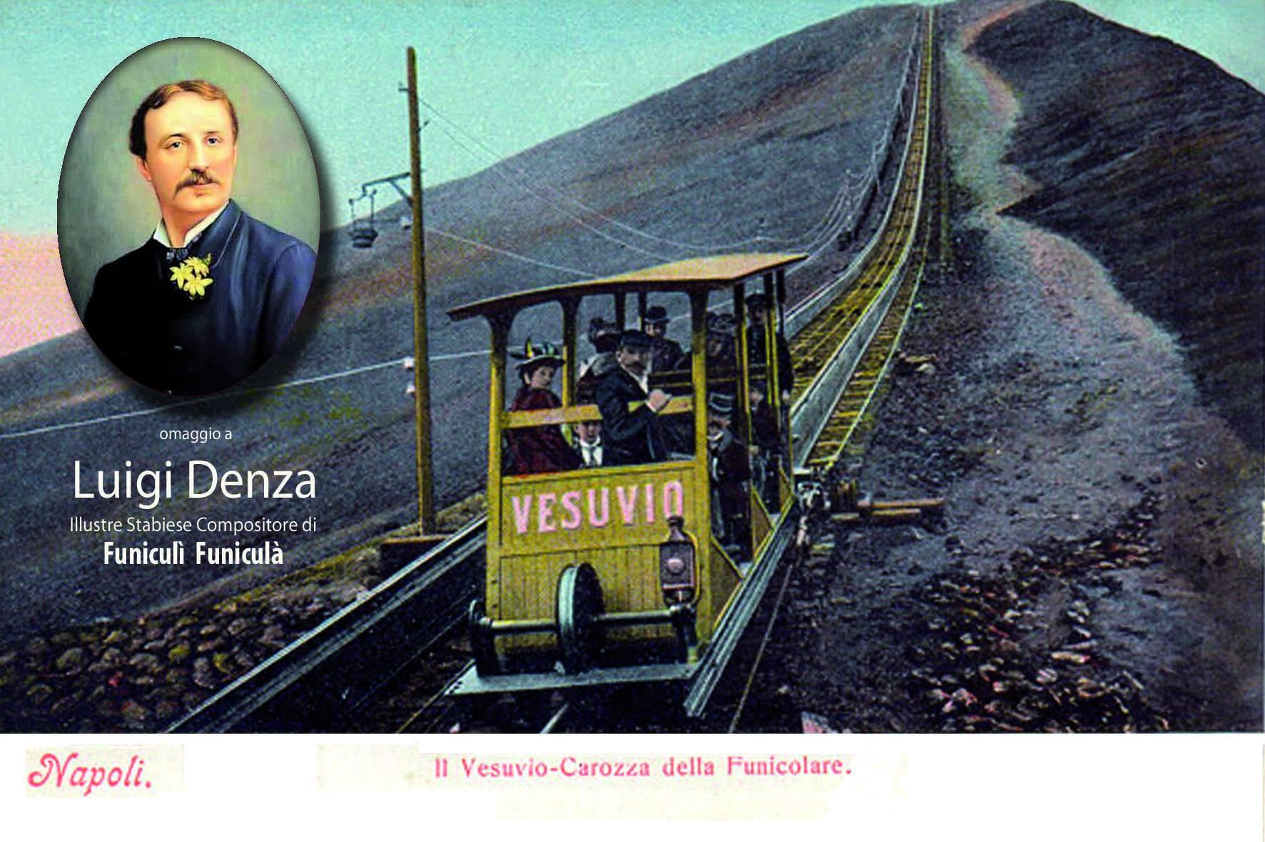 Cartolina commemorativa Luigi Denza