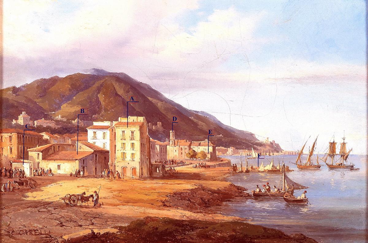 Consalvo Carelli, Castellammare di Stabia, Largo del Quartuccio, Napoli 1842