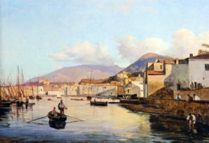 Giacinto Gigante, Veduta di Castellammare dai cantieri navali
