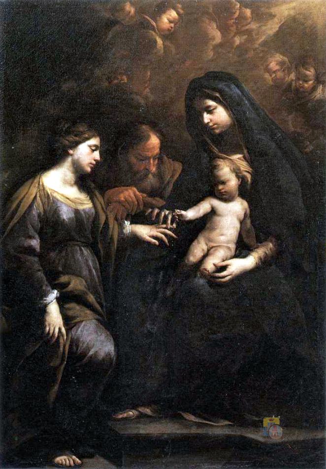 Sposalizio di Santa Caterina d'Alessandria Andrea Vaccaro