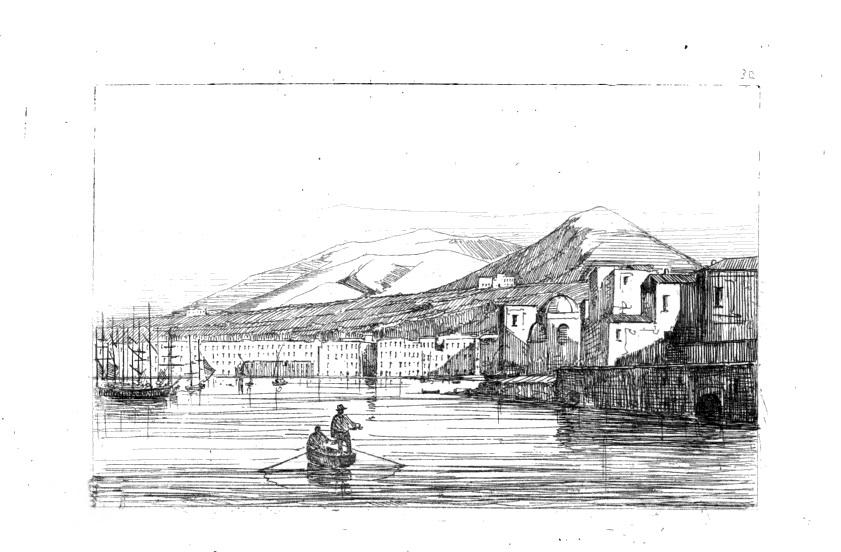 Achille Gigante, da Francesco Alvino, Viaggio da Napoli a Castellammare, 1845, tra pag. 116 e 117,