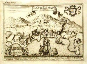 Galeone antico nella rada di Stabia incisore D. Francesco Cassiano de Silva – Anno: 1703. Prop. G. Fontana
