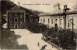 Antica piazza Amendola sul fondo il convento dei Carmelitani - collezione C. Vingiani
