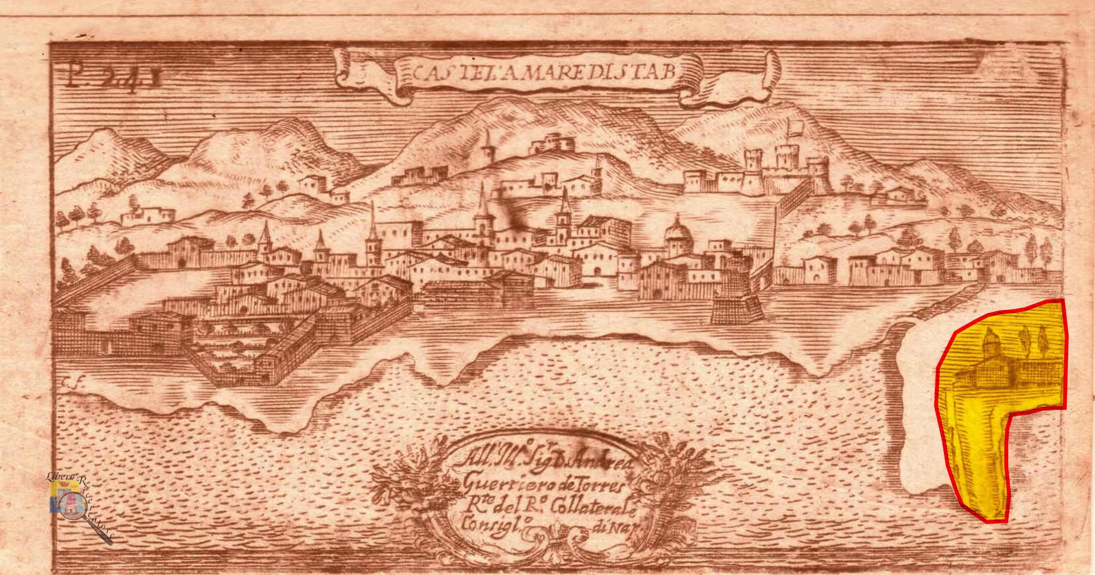 Castellammare incisione del 1709 (Pacichelli) - prop. G. Fontana