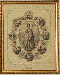 San Catello: stampa antica custodita nella sagrestia della Concattedrale di Castellammare