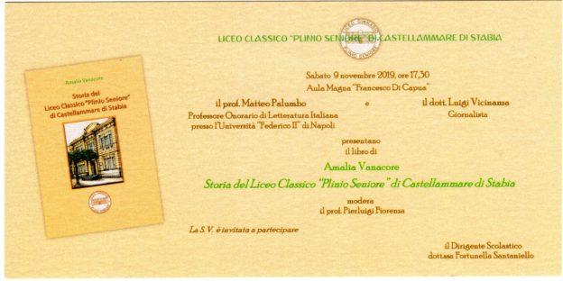 Biglietto d'invito presentazione libro
