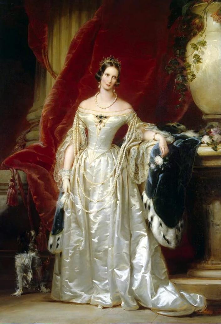 L'imperatrice di Russia, Aleksandra Feodorovna, in un ritratto di Christina Robertson, 1841-1842