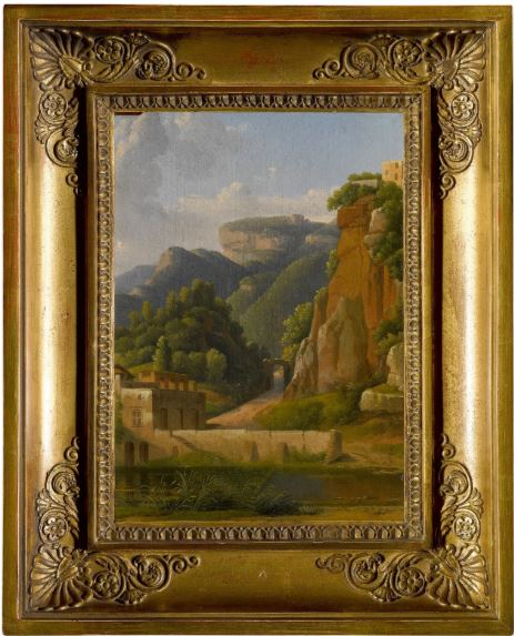 Alexandre Hyacinthe Dunouy, View of Stabiae, near Castellammare, canvas, 16,2x25,1 2