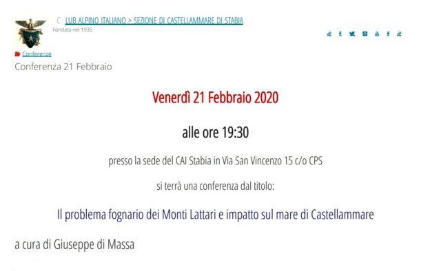Conferenza 21 Febbraio 2020 – CAI Stabia
