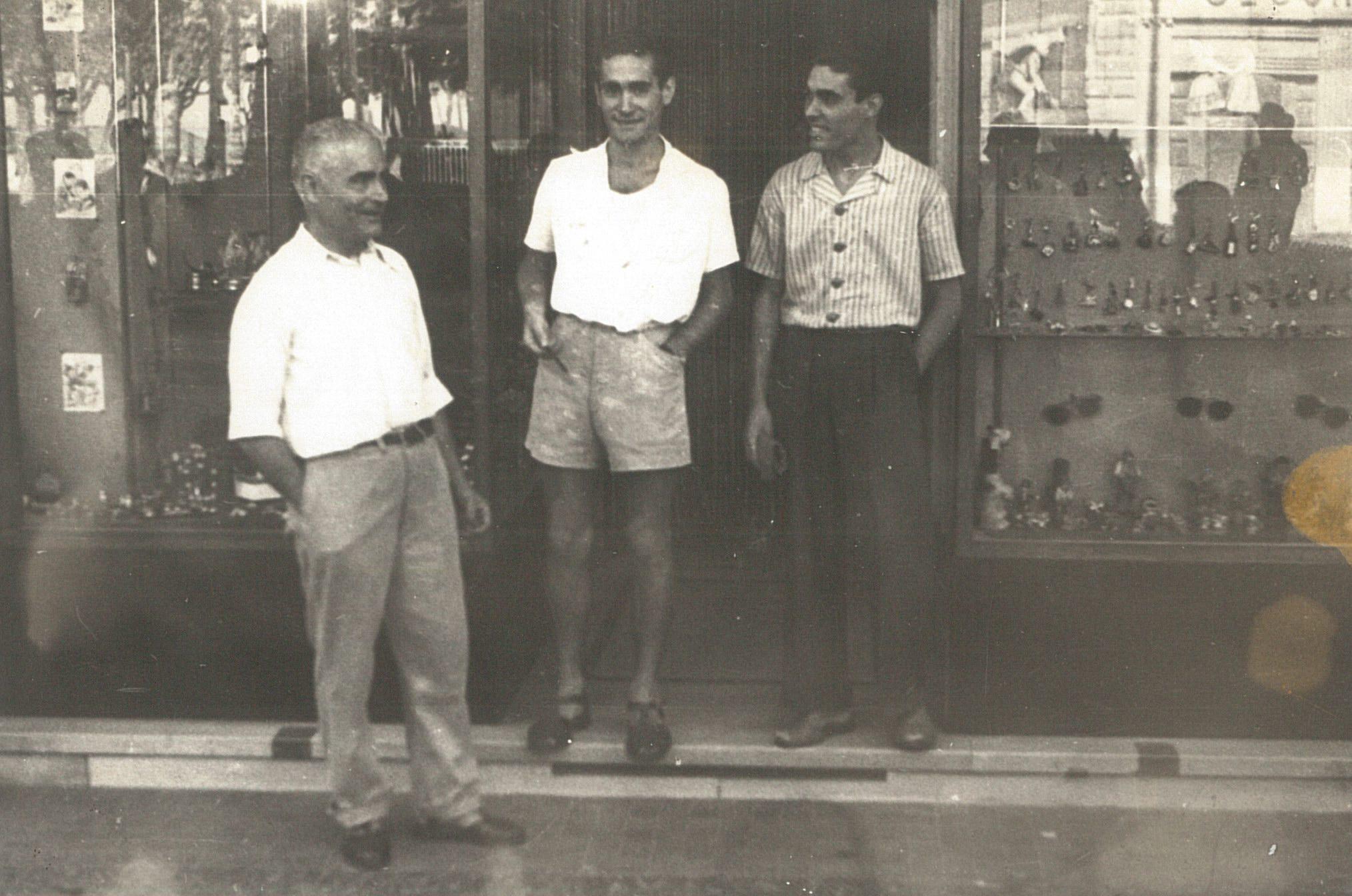 Giovanni Montefusco con i figli Massimo e Raffaele
