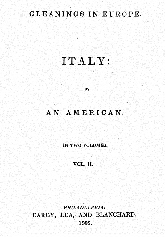 Gleanings in Europe Italy, Google libri