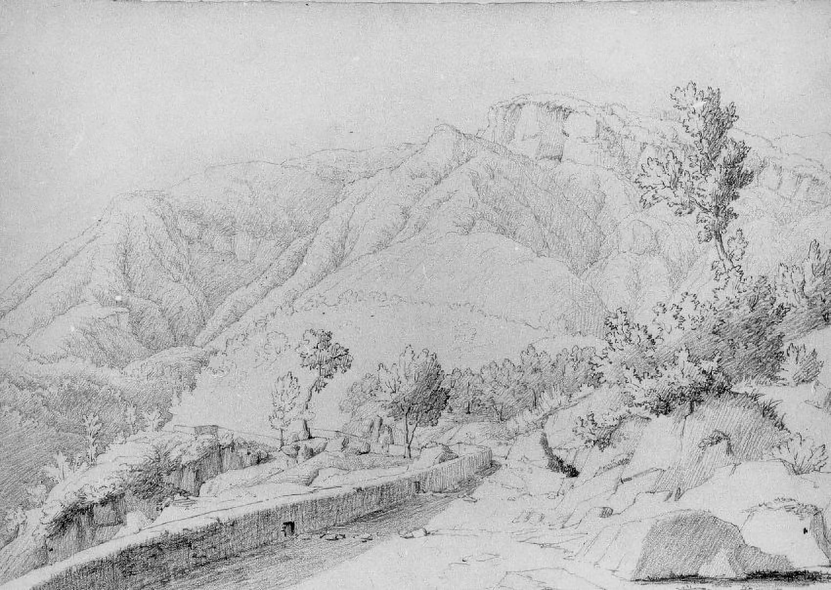 Closson, Gilles François,Paesaggio di montagna Castellammare