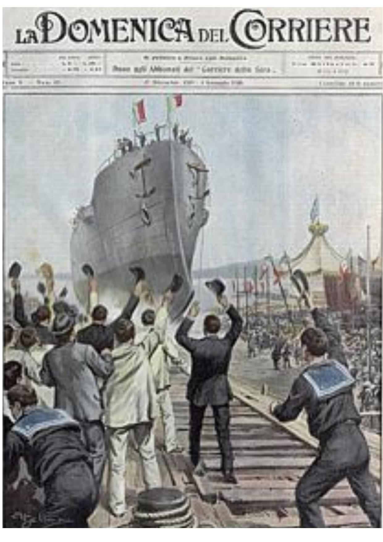 Il San Marco al varo - Domenica del Corriere