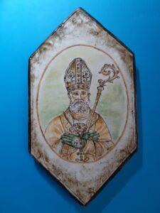 Maiolica di San Catello (cm 20x10) realizzata da Antonella de Marco