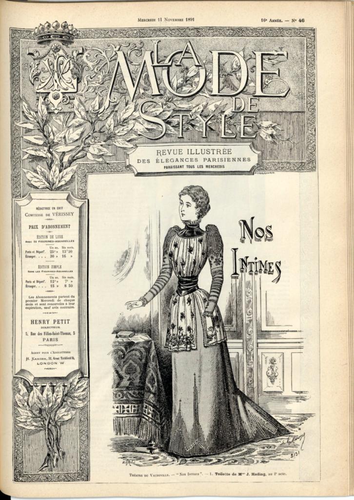 La mode De Style, rivista illustrata di eleganze parigine