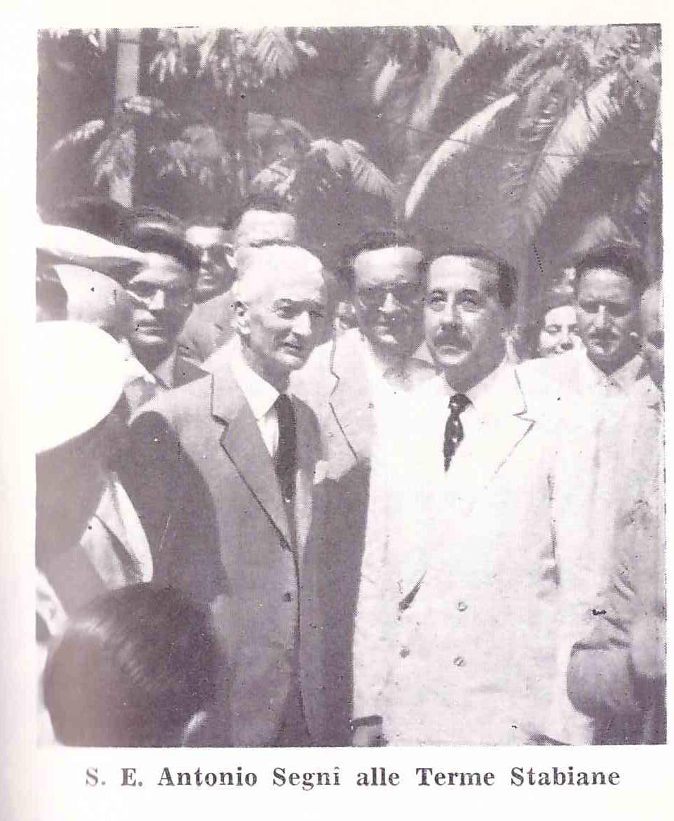 L' Avv. Franco Scarselli con il Presidente della Repubblica Antonio Segni.