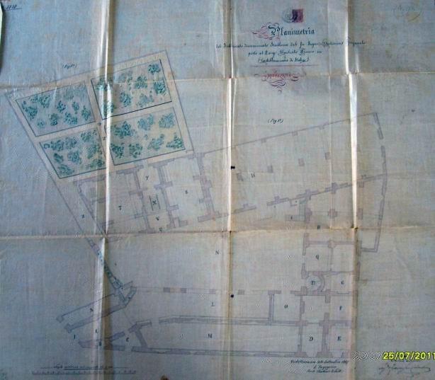 Fig. 1 Planimetria del piano terra dello Stallone elaborata dall'ing. A. Vitelli