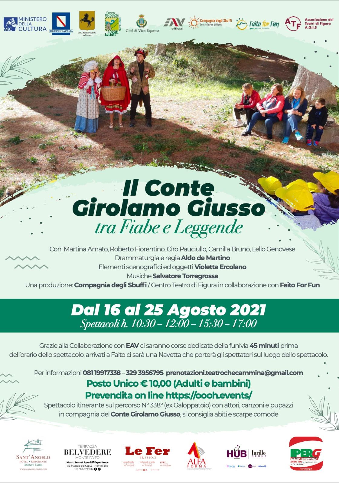 Il Conte Girolamo Giusso tra Fiabe e Leggende